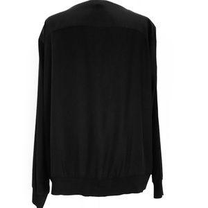 Lafayette 148 New York Tops - Lafayette 148 New York black matte 100% silk top